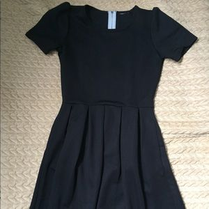 LuLaRoe Amelia black dress
